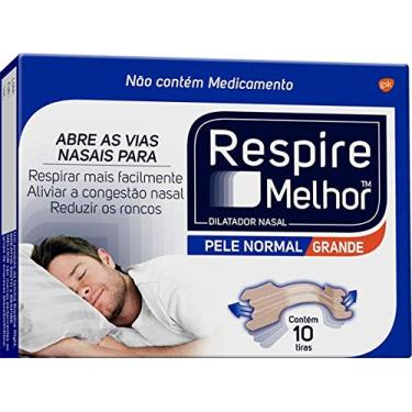 Dilatador Nasal Grande, Respire Melhor, 10 unidades