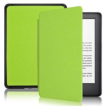Capa Kindle Paperwhite 10ª geração à prova d'água - Função Liga/Desliga - Fechamento magnético - Cores (Verde Limão)