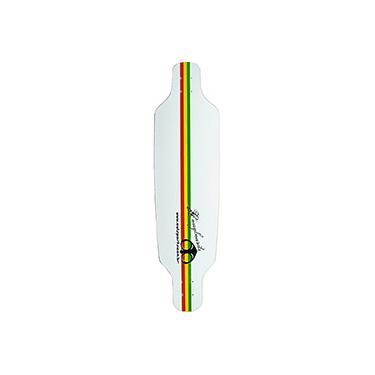 Imagem de Shape para Skate Speed Reggae Owl Sports - Branco