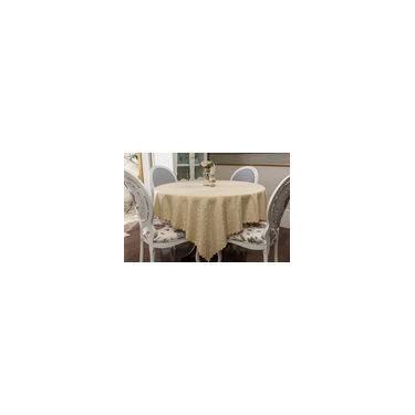Imagem de Toalha de mesa - Retangular - Arabesco Bege - 170 cm x 270 cm
