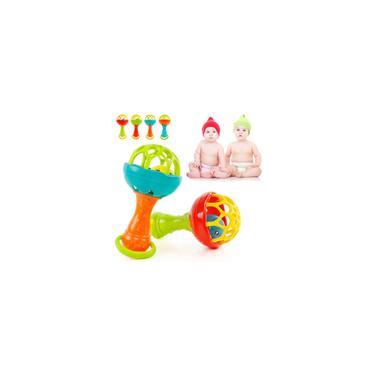Imagem de Chocalho de bebê de 0 a 2 anos mordedor de brinquedo de plástico macio engraçado chocalho de mão para crianças presente de aniversário