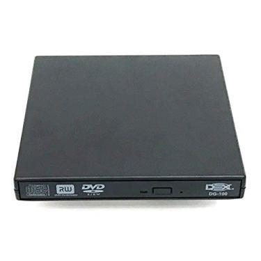 Drive Externo Slim Usb Portátil Gravador Leitor Cd Dvd Dg100