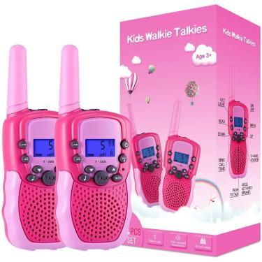 Selieve Brinquedos para Meninas de 3 a 12 anos, Walkie Talkies para Crianças 22 Canais 2 Maneira Brinquedo de Rádio com Lanterna LCD Retroiluminada, 3 Milhas de Alcance para Fora, Camping, Caminhadas