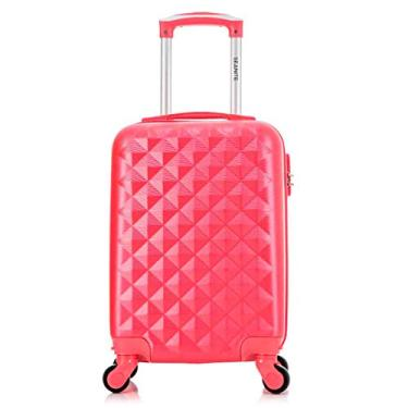 "Mala Mini De Viagem PP 18"" Abs Flamingo Rodas 360° Seanite"