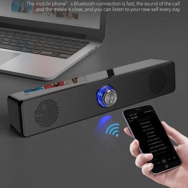 Imagem de Alto-falante soundbar com subwoofer, sistema de som de tv para home theater, bluetooth, pc com grave