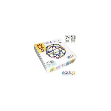 Imagem de Quebra-cabeça - Edulig Puzzle 3D Bola 5 - 90 peças e conexões - 6 cores - Edulig