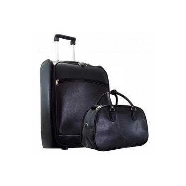 Mala de Bordo Pequena e bolsa viagem Cor Marrom (Medidas: A55xL35xP20) (Regulamentação ANAC) menor preço, promoção