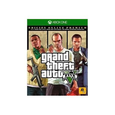 Grand Theft Auto V 5 GTA 5 V - Premium Online Edition - Xbox One + Mapa (Legendas em Português)