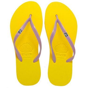 Chinelo Custom Pe'ahi Violet Feminino Cor:Amarelo;Tamanho:33/34;Gènero:Mulher