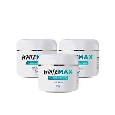 Imagem de Kit Clareador Dental 3 Pote Whitemax