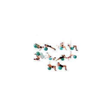 Imagem de Bola Suica 65 Cm com Ilustracao para Pilates e Yoga Cor Azul