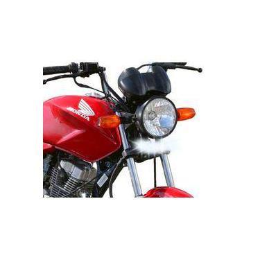 Farol De Milha Led 15w Drl Moto Honda Cg150 Titan 2000-2009