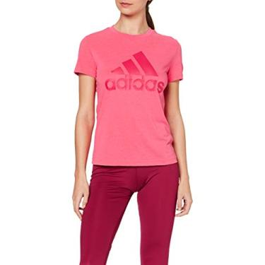 CAMISETA Adidas MUST HAVES BADGE OF SPORT Rosa - Original