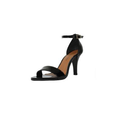 Sandália Salto Alto Fino Luiza Sobreira Verniz Preto Mod. 2212  feminino