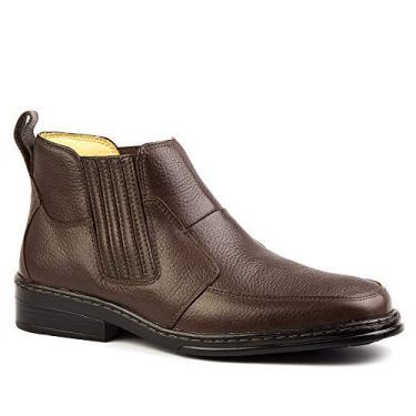 Botina Masculina 915 em Couro Floater Café Doctor Shoes-Café-38
