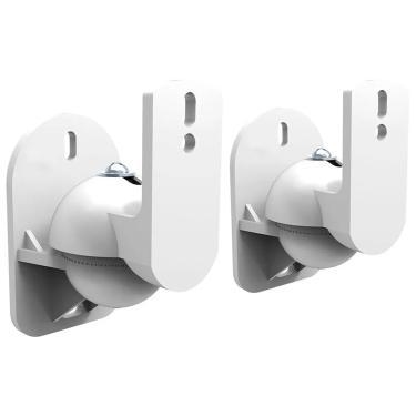 Suporte de Parede para Caixas Acústicas - com Rotação e Inclinação - Branco - ELG CX01W