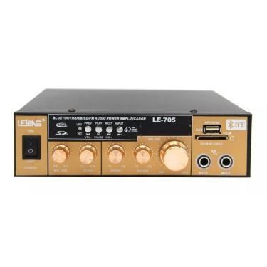 Amplificador De Som Com Áudio Bluetooth Karaoke Mp3 Usb