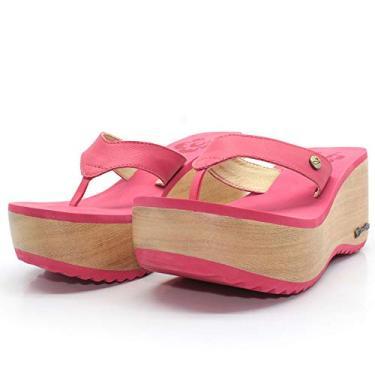 Tamanco Plataforma Madeira Barth Shoes Buzios Vermelho (Vermelho, 34)