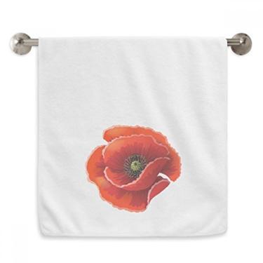 Imagem de DIYthinker Toalha de mão Red Flower Painting Big Corn Toalha de banho de algodão macio
