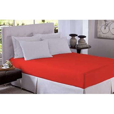 Imagem de LENÇOL COM ELÁSTICO AVULSO QUEEN MICROFIBRA Cor:Vermelho