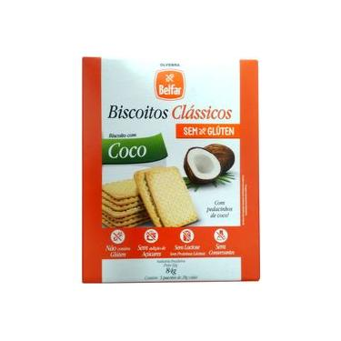 Imagem de Biscoito Belfar sabor coco sem glúten lactose 86 gr Olvebra