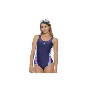 Maiô Xtra Life Nadador C/ Sustentação Hammerhead / Marinho-Estampa Verde-Speed Azul / M