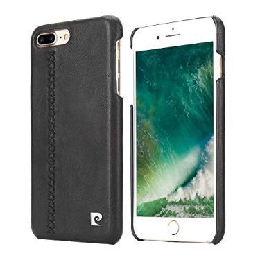 Capa para iPhone 7 Plus iPhone 8 Plus Couro Legítimo Original [Couro] [Capa iPhone] [iPhone 7 Plus] [iPhone 8 Plus] [Capinha Protetora] [Preto], Pierre Cardin, PC63-01, Preto