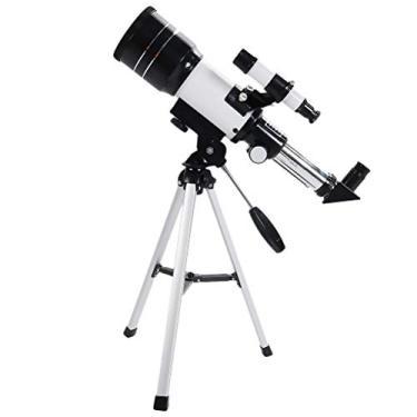 Telescópio astronômico de 70 mm Ocular de refração do telescópio monocular com tripé de cores variadas