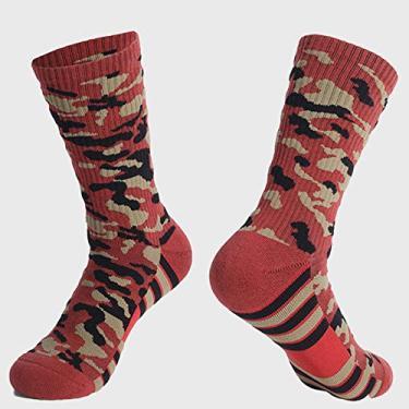 Imagem de Meias Quentes, Baugger Meias esportivas wicking antiderrapante espesso respirável meias multicoloridas para corrida ao ar livre caminhada basquete