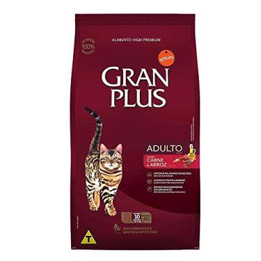 Ração para Gatoss Adultos Gran Plus Carne e Arroz 10,1Kg