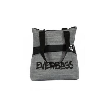Bolsa Sacola Mala Fitness Masculina/Feminina Everbags Cinza