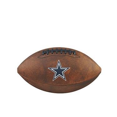 Bola Futebol Americano Nfl Jr Throwback Team Logo Dallas Cowboys, Wilson