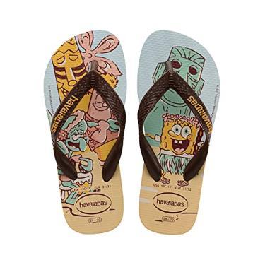 Imagem de Chinelo Kids Top Spongebob, Havaianas, Adulto Unissex, Dourado, 43/44