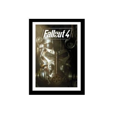 Quadro Com Vidro Jogo Fallout 4 Game 35x45 Cm