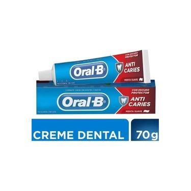 Creme Dental Oralb 123 Anticaries Menta Suave 70g