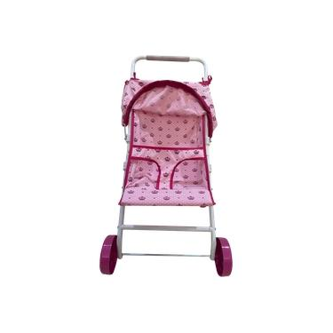 Imagem de Carrinho De Boneca Modelo Rosa Coroa Brinquedo Menina Grande Soft Reborn
