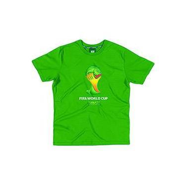 Camiseta FIFA Verde Bandeira Masculina Infantil Copa do Mundo da FIFA 2014
