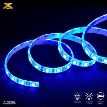 Fita de LED VX Gaming AZUL com Conexao Molex 60 Pontos de LED 1 Metro - LAM1 (7908020920144)