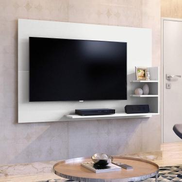 Painel para TV até 40 Polegadas 3 Prateleiras Exclusive Mavaular Branco