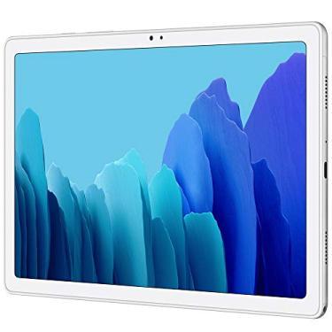 """Imagem de Samsung Galaxy Tab A7 10,4"""" 2020 (32 GB, 3 GB) Wi-Fi apenas Android 10 One UI Tablet, Snapdragon 662, bateria 7040 mAh, modelo SM-T500 EUA (pacote SD de 64 GB, prata)"""