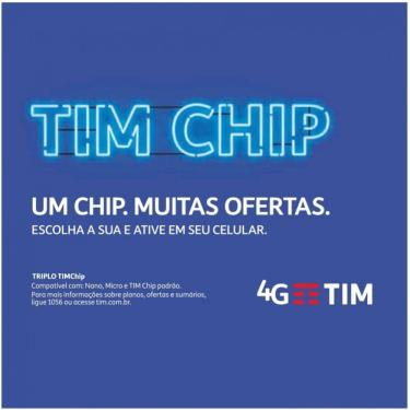 Chip Tim Triplo Corte 4G - Azul