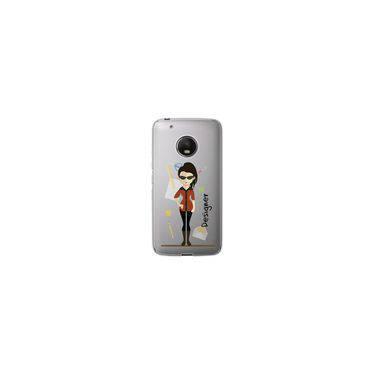 Capa para Moto G5 Plus - Mycase Designer - Mulher - Profissões