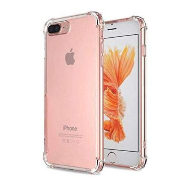 Capinha Silicone Transparente Antichoque Iphone 8/8 Plus