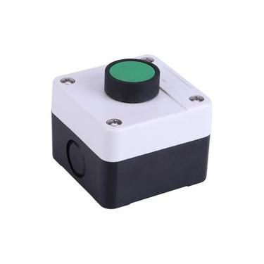 Push Button Station,Weatherproof Green Push Button Switch One Button Control Box for Gate Opener,Protective Level of The Cap is IP54, Good for Indoor