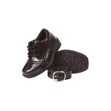 Sapato Social Infantil Masculino Com Cinto Cadarço Confortavel Quinta Virtual 20/27