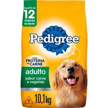Ração Seca Pedigree Carne e Vegetais para Cães Adultos Raças Médias e Grandes - 10,1 Kg