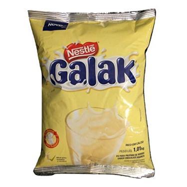 Galak Achocolatado pó chocolate branco nestlé 1,01kg
