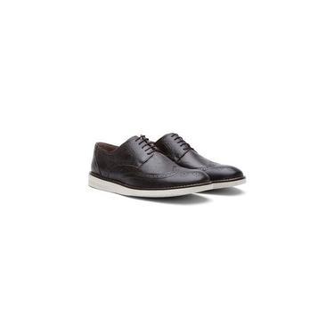 Sapato Casual Oxford Masculino Couro Fóssil Preto 206 Tamanho:44