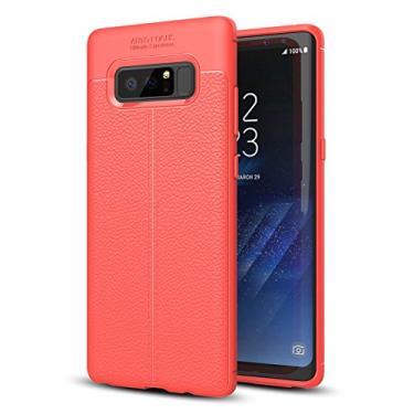 Capa para Samsung Galaxy Note 8, capa de couro para Galaxy Note 8, capa protetora antiderrapante de couro sintético premium para Samsung Galaxy Note 8 de 6,3 polegadas