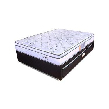 010e08222a Conjunto Colchão Casal Molas Ensacadas Com Pillow + Box Colchão Bicama